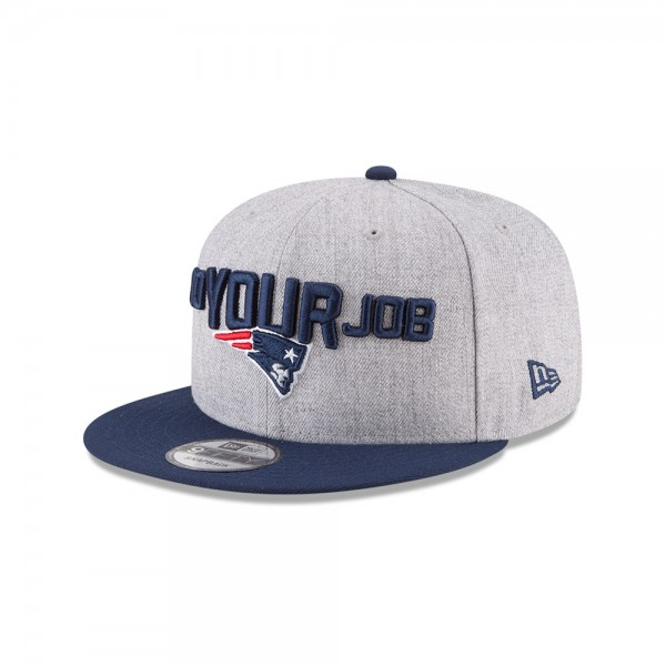 New England Patriots NFL On Stage Draft 9FIFTTY Snapback Cap Do Your Job Heather Navy OTC von New Era