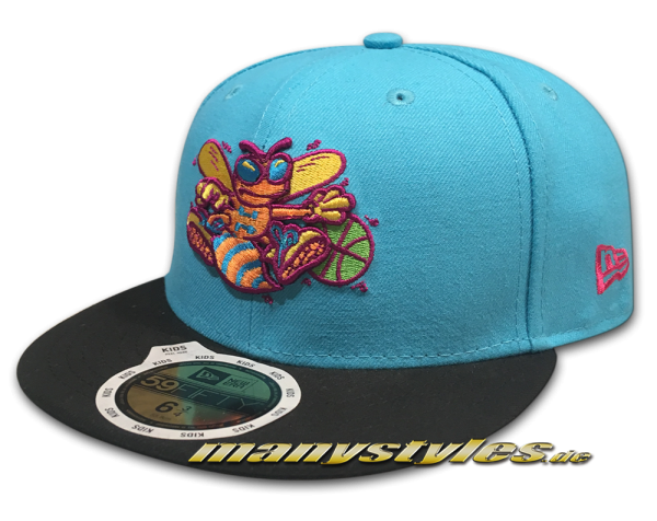 New Era Charlotte Hornets NBA HWC Cooperstown 59FIFTY JR Junior Kids Cap