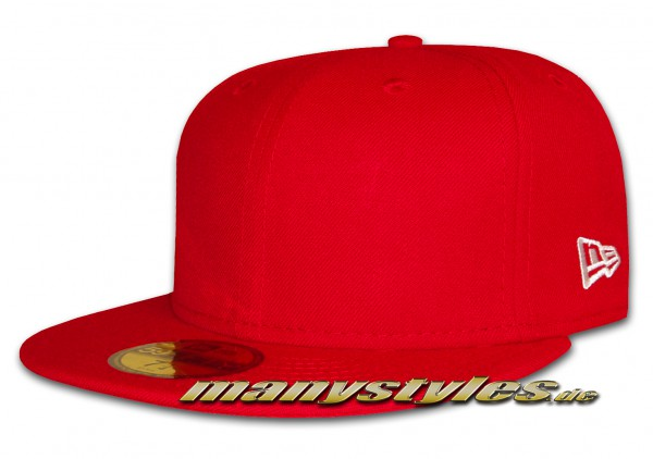 New Era NE Originals Blank 59FIFTY Cap Scarlet Red Clean Plain no Logo