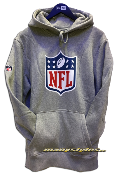 NFL Team Logo PO Hood Hooded Sweatshirt mit Kapuze Heather Grey Team Color von New Era