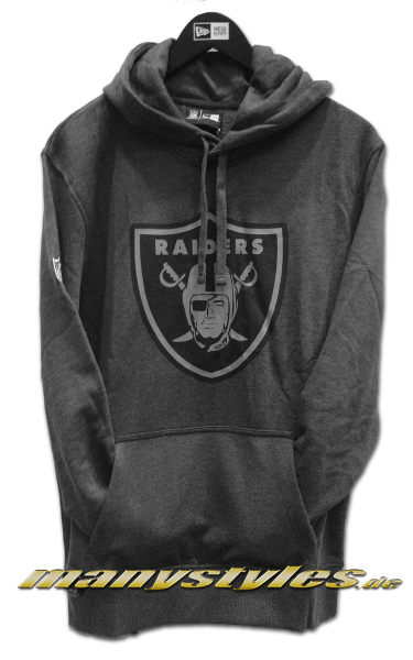 Oakland Raiders NFL Two Tone Hoody Charcoal Heather Graphite Grey