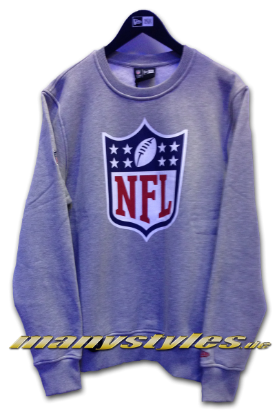 a121fde98 NFL Shield Logo Two Tone Hoody Charcoal Heather Graphite Grey von ...