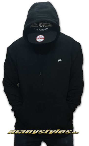 New Era Essential Oversized Hooded Black White