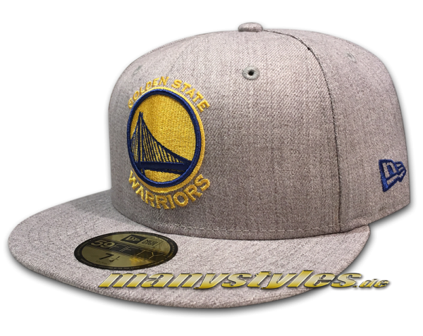 Golden State Warriors 59FIFTY  NBA Basic Logo Cap Heather Grey Team Color frontside
