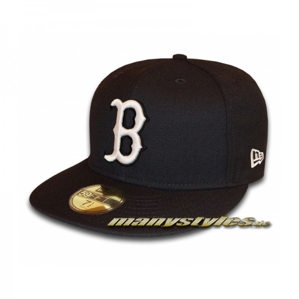 BOSTON RED SOX New Era MLB Basic Cap Black White 59FIFTY