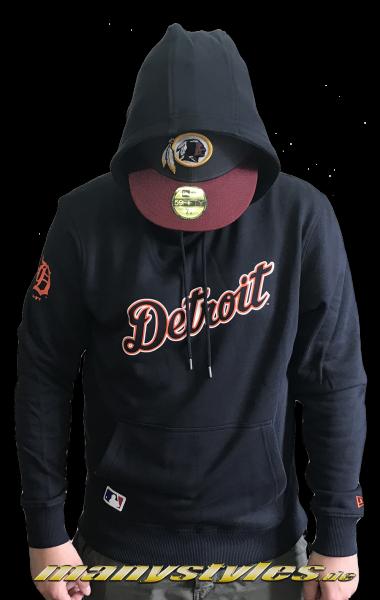 Detroit Tigers MLB Team Apparel Hoody Sweater Navy Orange White Team Color von New era
