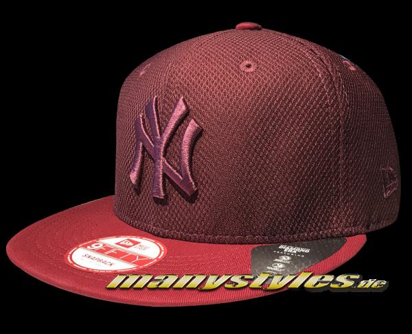 NY Yankees MLB 9FIFTY Diamond Era Mix Snapback Cap Maroon von New Era