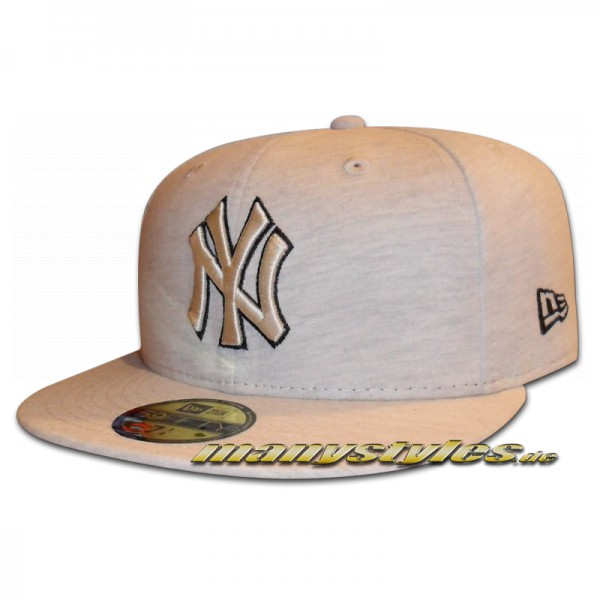 NY Yankees 59FIFTY MLB Cap Jersey Team Fitted Stone Heather