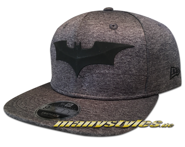 DC Comic Batman 9FIFTY Snapback Cap Concrete Jersey Graphite Heather Black von New Era