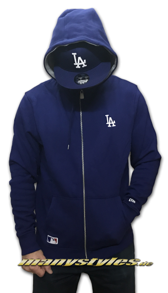 LA Dodgers Dry Zip Hooded Royal White